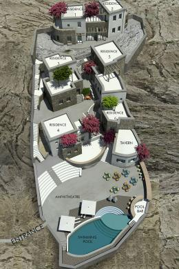 House complex project in Chora of Folegandros